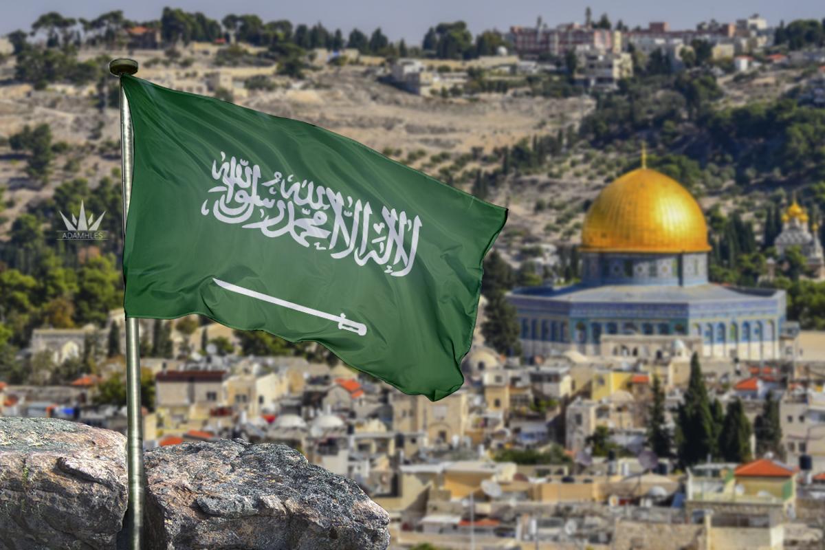 علم السعودية في القدس اجمل خلفيات السعودية Flag of Saudi in Jerusalem