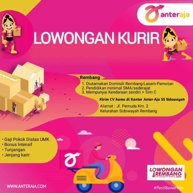 Lowongan Kerja Kurir Ekspedisi Anteraja Rembang