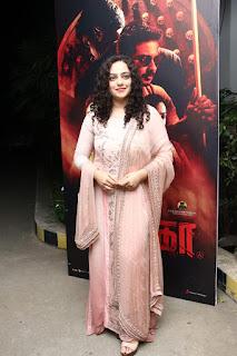 Actress Nithya Menon Stills at Psycho Movie Success Meet