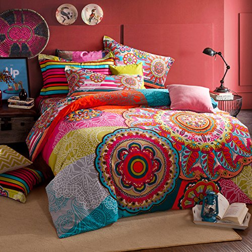 bohemian style comforter and bedding sets. Black Bedroom Furniture Sets. Home Design Ideas