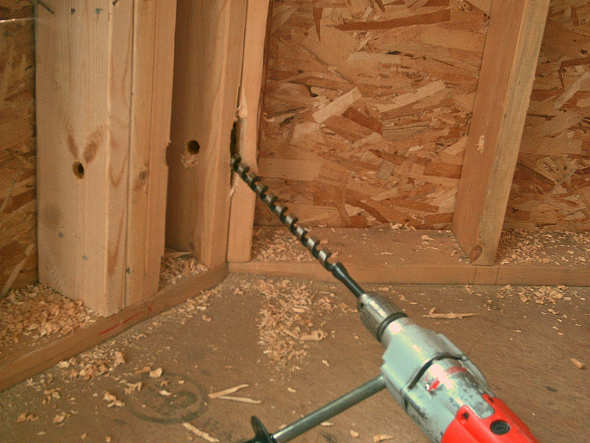 Drilling Walls For Electrical Wiring