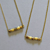 two embossed paper bead necklaces