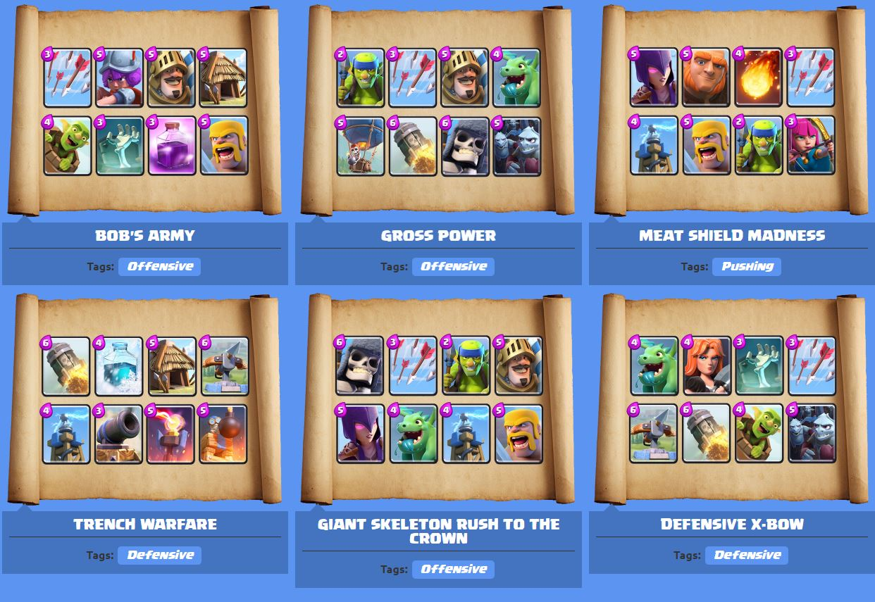 how to build an arena deck