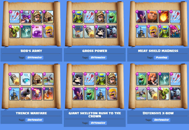 Clash Royale best decks Arena 4