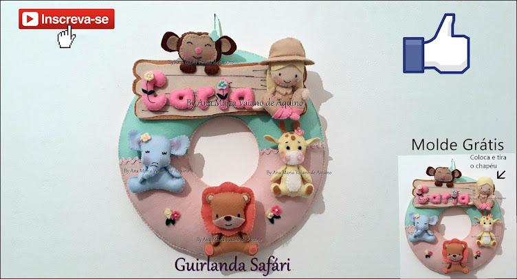 Guirlanda Safári: Clique na Imagem para Obter o Molde