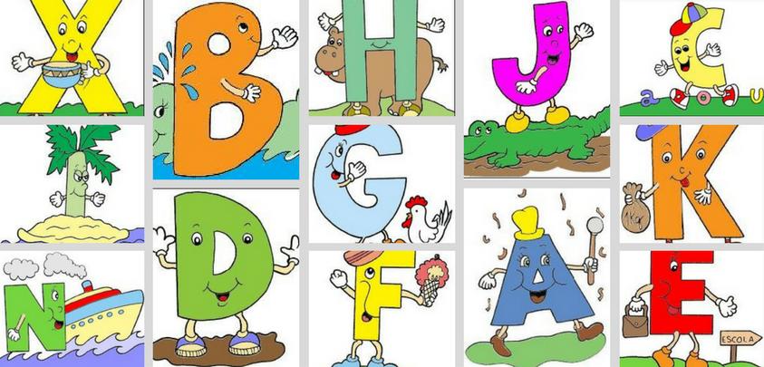 Alfabeto Colorido De Parede Para Imprimir So Escola