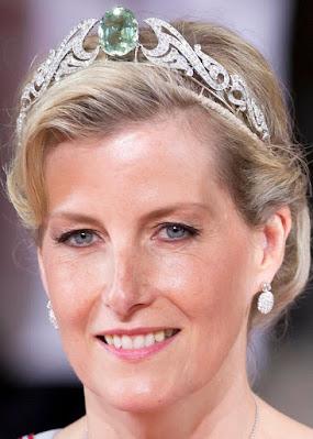 aquamarine necklace tiara countess wessex sophie united kingdom