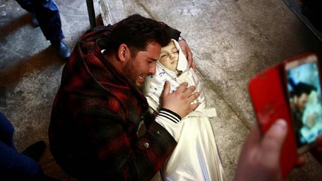 Menyedihkan Lihat Foto Amira Skaff, Bayi Mungil Korban Perang Suriah yang Meninggal dengan Tersenyum