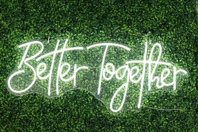 At Last Wedding + Event Design better together neon sign rental