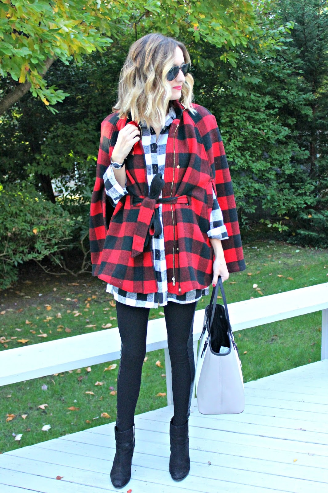 mixing buffalo plaid prints