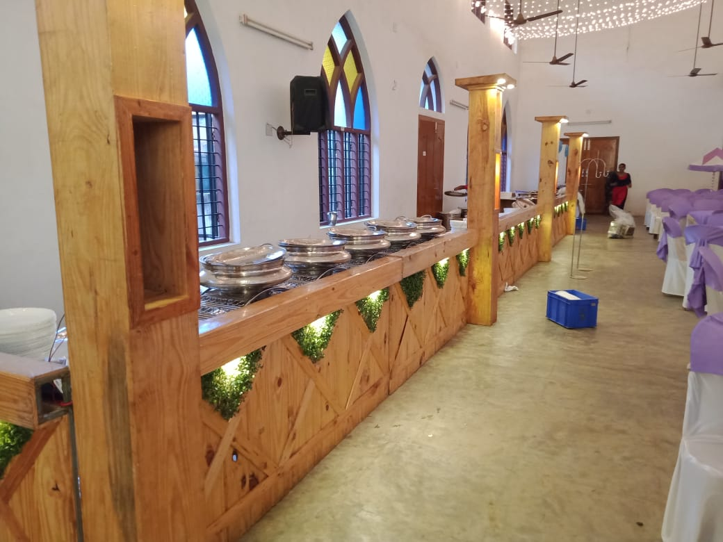 hall counter decoration for catering kerala