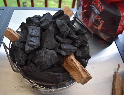 Kick Ash Basket full of Jealous Devil lump charcoal