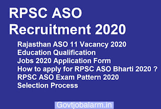 RPSC Assistant statistical officer Bharti