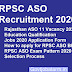 RPSC Assistant statistical officer Bharti 2020 Rajasthan