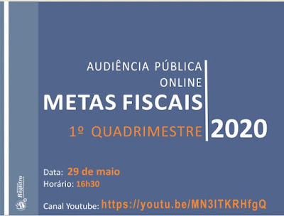 Audiência pública sobre as metas fiscais será virtual