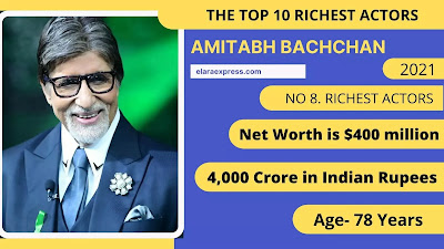 8 of 10 Richest actor IN the world