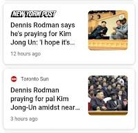 Rodman praying for Kim Jong Un