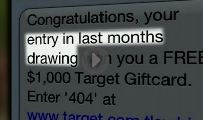 Spam Text message offers gift card to Target