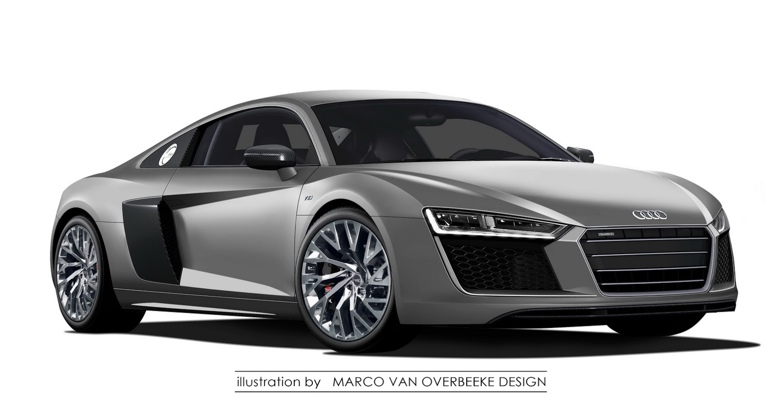 new 2016 audi r8 illustration looks like the real thing carscoops. Black Bedroom Furniture Sets. Home Design Ideas