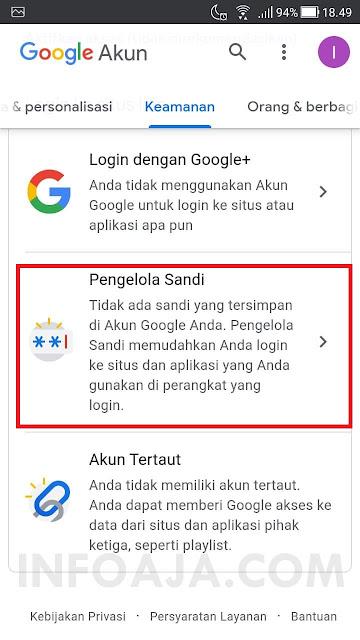 Cara melihat password di akun google