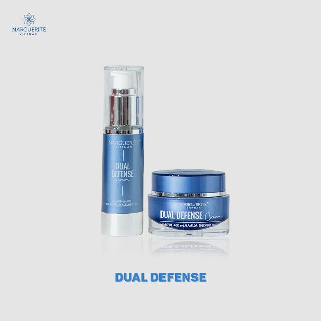 dual defense serum cream chống lão hóa