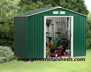 PME8x6-AR apex metal storage shed features lockable sliding doors with a reinforced r& for easy access. The attractive Green Cream finish on your PME 8 x ... & PME Sheds u0026 Outdoor Storage - Metal Sheds and More / pmemetalsheds ...