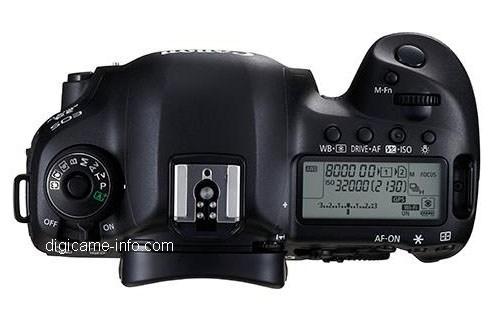 Fotografia del top della Canon EOS 5D Mark 4