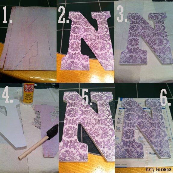 DIY Monogram Door Letters