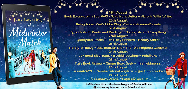 A Midwinter Match by Jane Lovering blog tour full banner