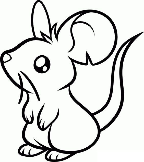 Hình tô màu con chuột đẹp