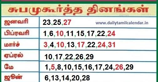 Muhurtham Dates 2019