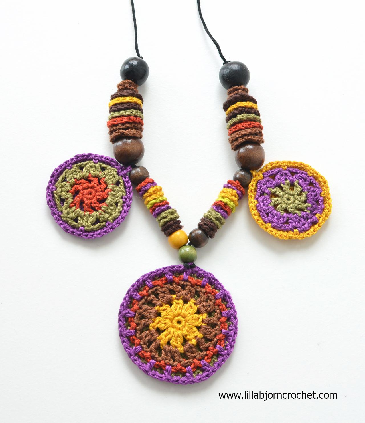 African Mandala Necklace: FREE pattern | LillaBjörn\'s Crochet World