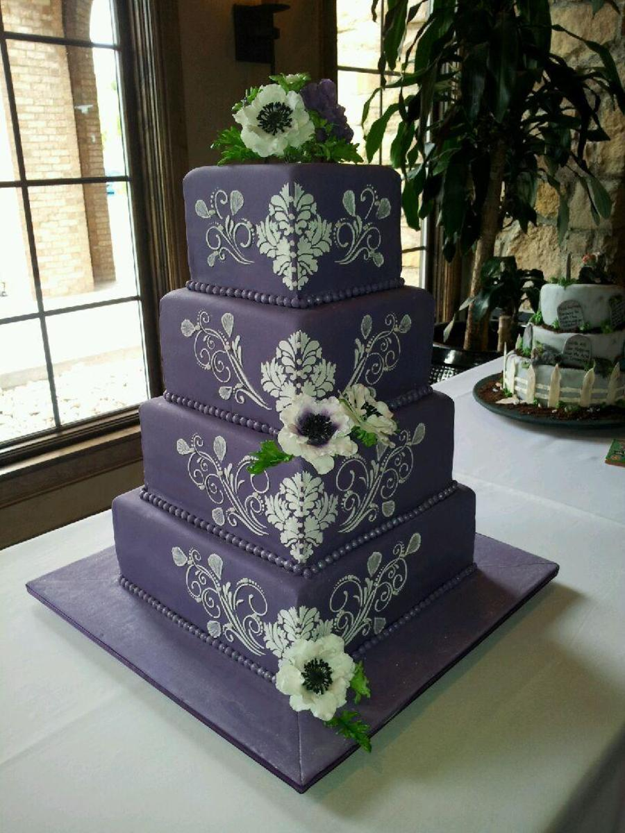 The Sensational Cakes Corner Layout Royal Purple Damask
