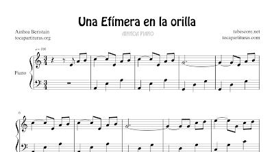 Una efímera en la orilla de Ainhoa Beristain Partitura de Piano