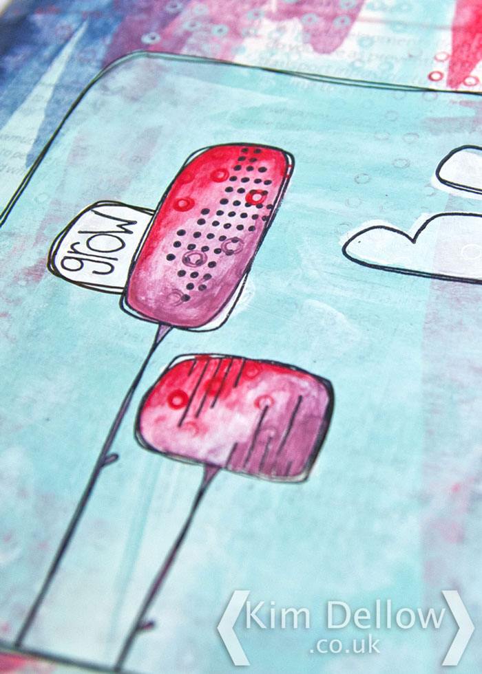 Close up of my PaperArtsy Eclectica³ {Kim Dellow} Stamps Make and Take