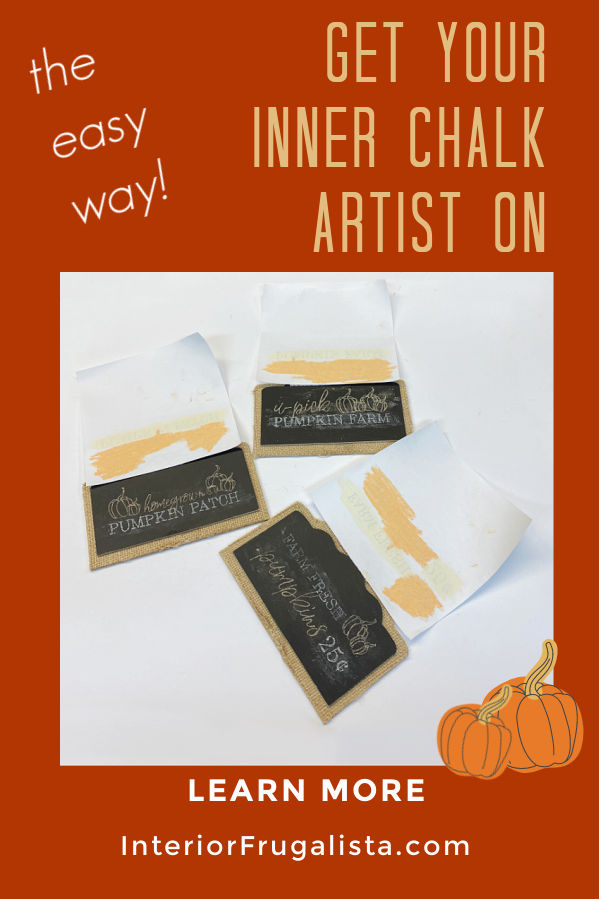 How To Create Chalk Art Like A Pro the easy way! A DIY tutorial by Interior Frugalista plus How To Upcycle Dollar Store Pedestal Chalkboards for budget Fall decorating. #chalkarttutorial #chalkboardart #fallchalkboard