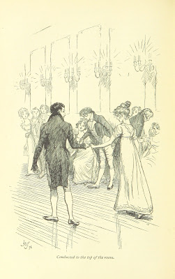 Mr Crawford leads Fanny to the top of the dance from Mansfield Park by Jane Austen (1898 edition)