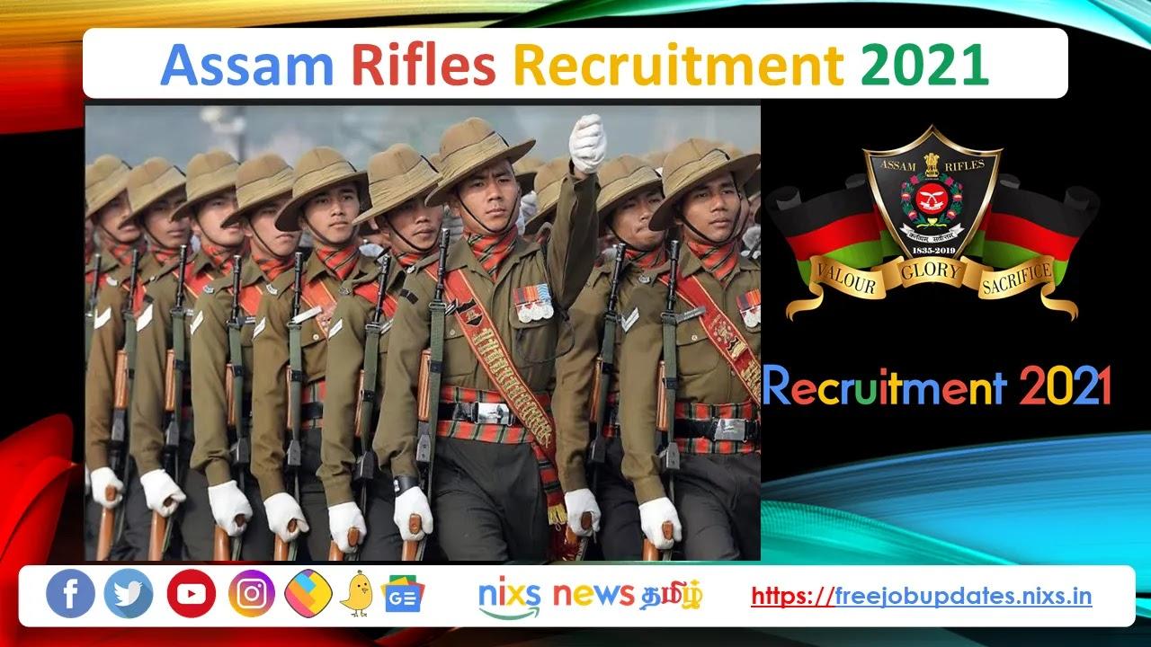 Assam Rifles Recruitment 2021 1230 Vacancies - Apply Online