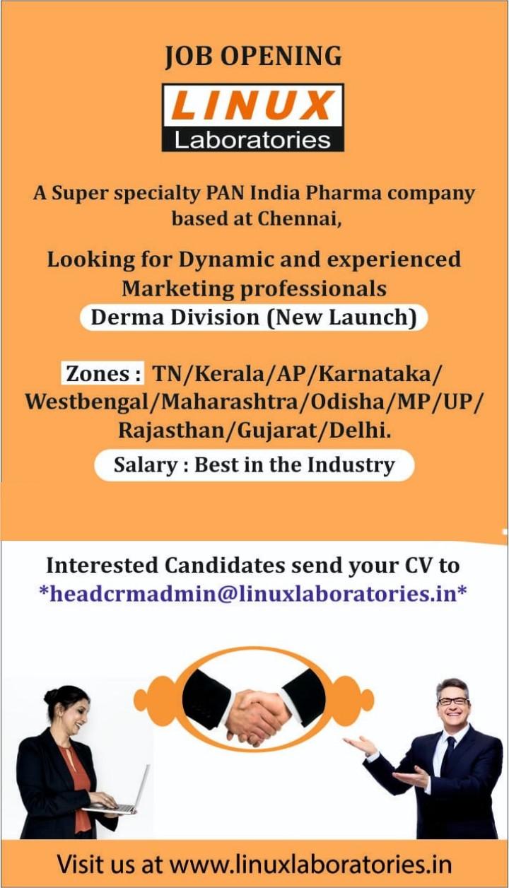 Linux laboratries – Urgent vacancy | Apply Now