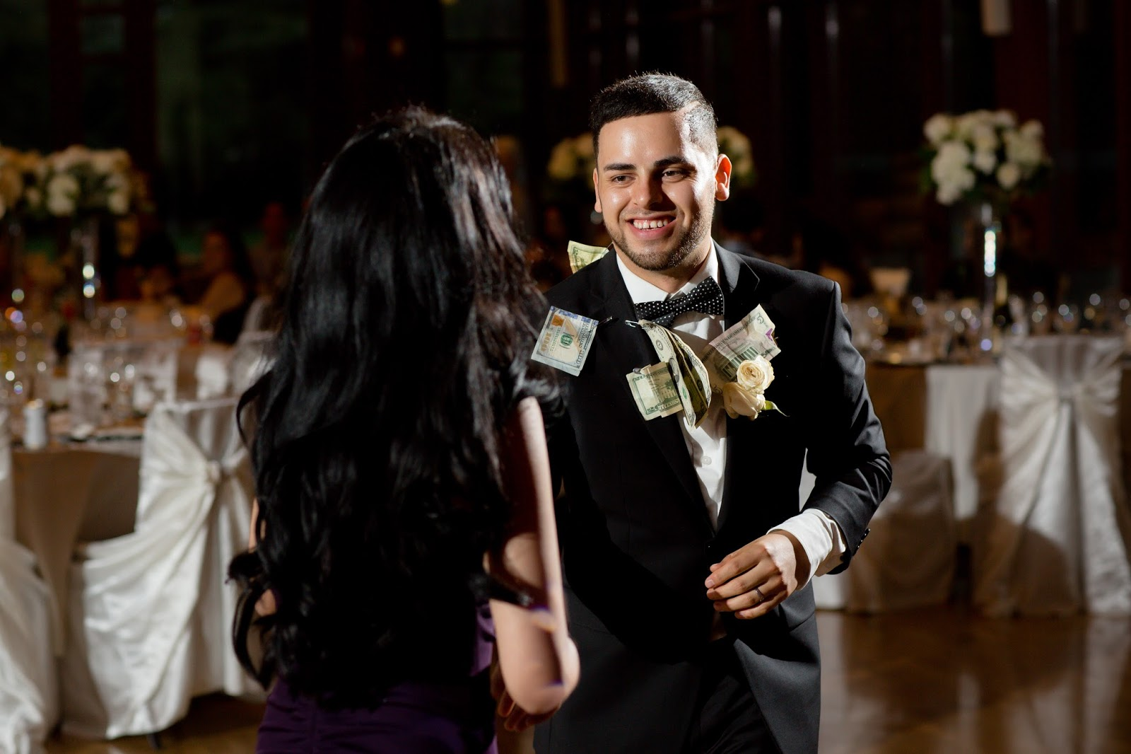 Bridesmaid joins Groom for Money Pinning Dance
