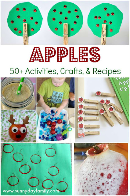 Apple ideas I love! More than 50 apple activities, crafts, & recipes plus 12 awesome features.
