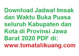 Download Jadwal Imsakiyah wilayah Jawa Barat 2020 PDF (Kalender Puasa Ramadhan 1441 Hijriyah)