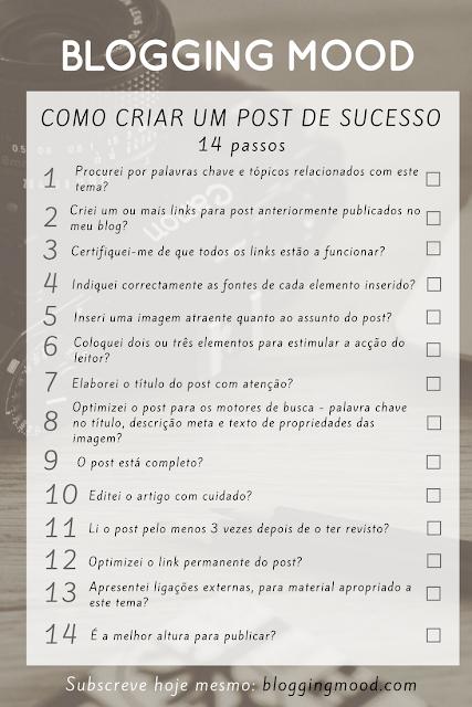 Checklist de 14 itens para Criar um Post de Sucesso