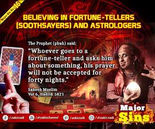 MAJOR SIN. 64.2. BELIEVING IN FORTUNE-TELLERS (SOOTHSAYERS) AND ASTROLOGERS