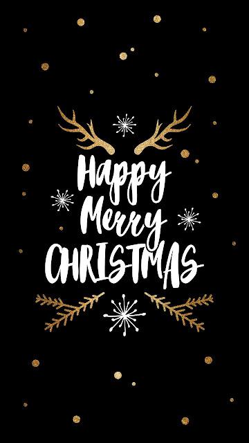 Happy merry christmas mobile wallpaper