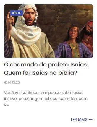 A imagem mostra uma representação de Isaías da bíblia pregando para os seus seguidores