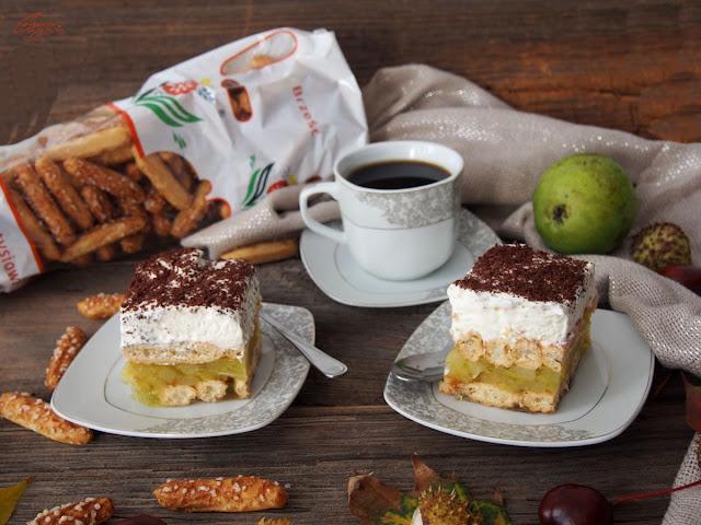 ciasto z gruszkami bez pieczenia
