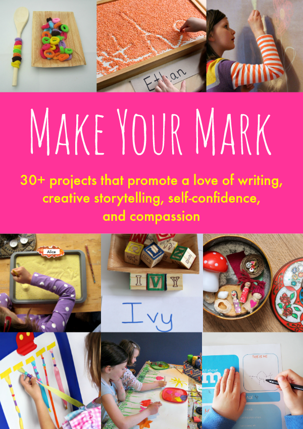 Hands-On handwriting activities are fun with this book, Make Your Mark.