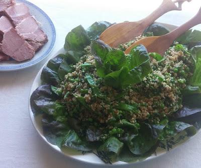Herby Peas & Bulgur Salad