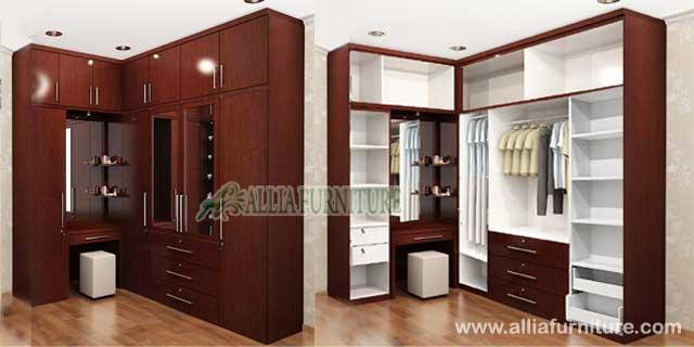 lemari pakaian sudut unit fungsional